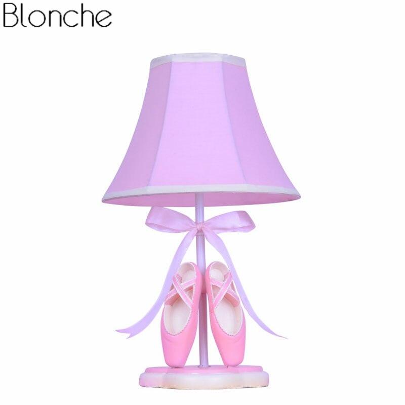 Moderne Ballet Schoenen Tafellamp Voor Kinderkamer Mooie Led Stand Bureaulamp Prinses Slaapkamer Bedlampje Verlichting