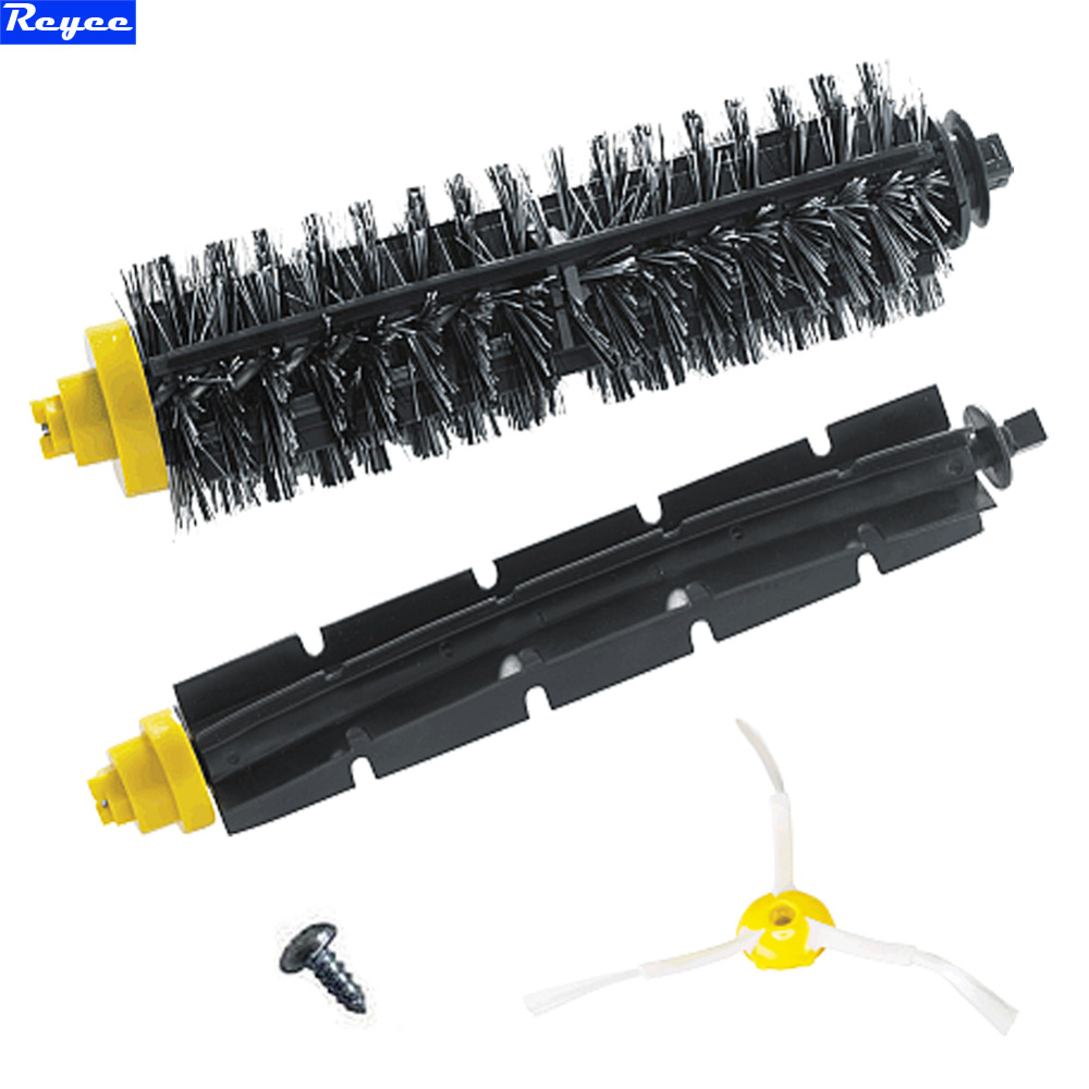 Replacement 3 Arms Sidebrush For iRobot Roomba 600 700 Series 620 630 650 660 760 770 780 Bristle Brush & Flexible Beater Brush flexible beater brush bristle brush for irobot roomba 500 600 700 series 550 630 650 660 760 770 780 790 vacuum cleaner parts
