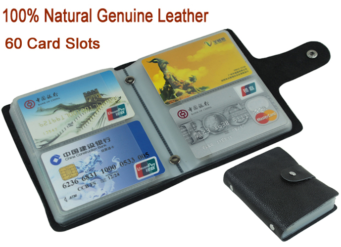 100 genuine leather credit card holder men card id holder case 100 reheart Choice Image