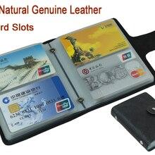 Натуральная кожа, кредитный держатель для карт, мужской держатель для карт, чехол для карт, женский бизнес-держатель для карт, большая вместительность, с 60 слотами, MC-902