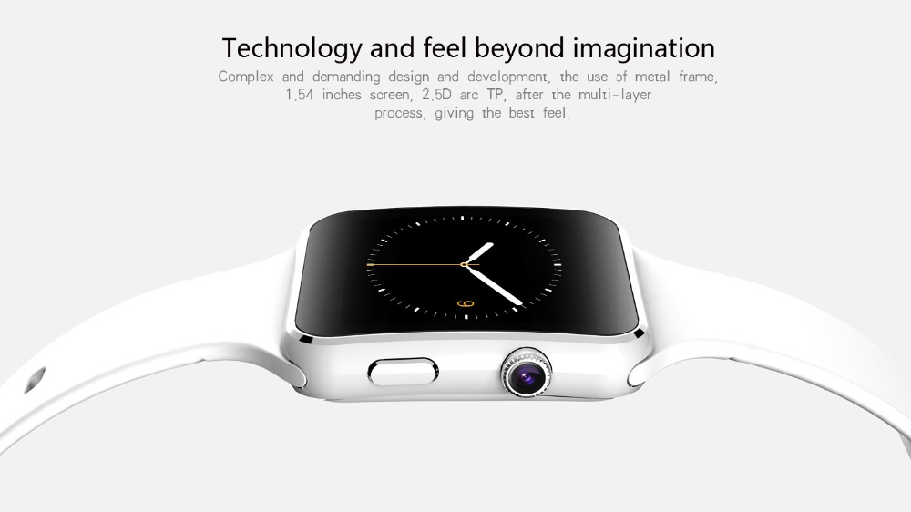 2016 New Bluetooth Smart Watch X6 font b Smartwatch b font sport watch For Android iPhone