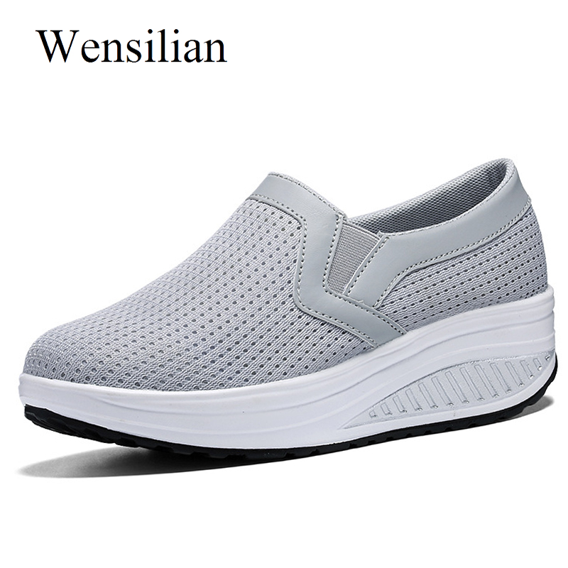 Fashion Summer Sneakers Women Basket Femme Slip On Casual Shoes Air Mesh Lightweight Ladies Shoes Trainers Women Zapatos Mujer