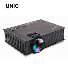 Original UNIC UC46 1200 lúmenes WIFI Portátil LED Proyector de Cine En Casa de Vídeo PC VGA/USB/HDMI Inalámbrico Mini Proyector de bolsillo bt140