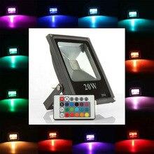1 шт. Ультра-яркий 10 Вт 20 Вт 30 Вт 50 Вт RGB AC220V 110 В Светодиодный прожектор Водонепроницаемый IP65 Led отражатель светодиодный прожектор наружного освещения