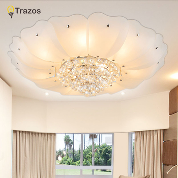 Nordic LED Ceiling Lights Gold Crystal Bedroom Lamp Round Ceiling Indoor Lighting Fixture For Kitchen Living room Home Art deco living room lights led ceiling lamp ultra thin cold white18w 24w 36w 48w lighting fixture ceiling lights for bedroom and kitchen
