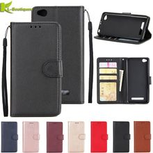 redmi 5a Leather Case on for Xiaomi Redmi 5A Cover for Xiaomi Redmi 5A Fundas Classic Style Solid Color Flip Wallet Phone Cases