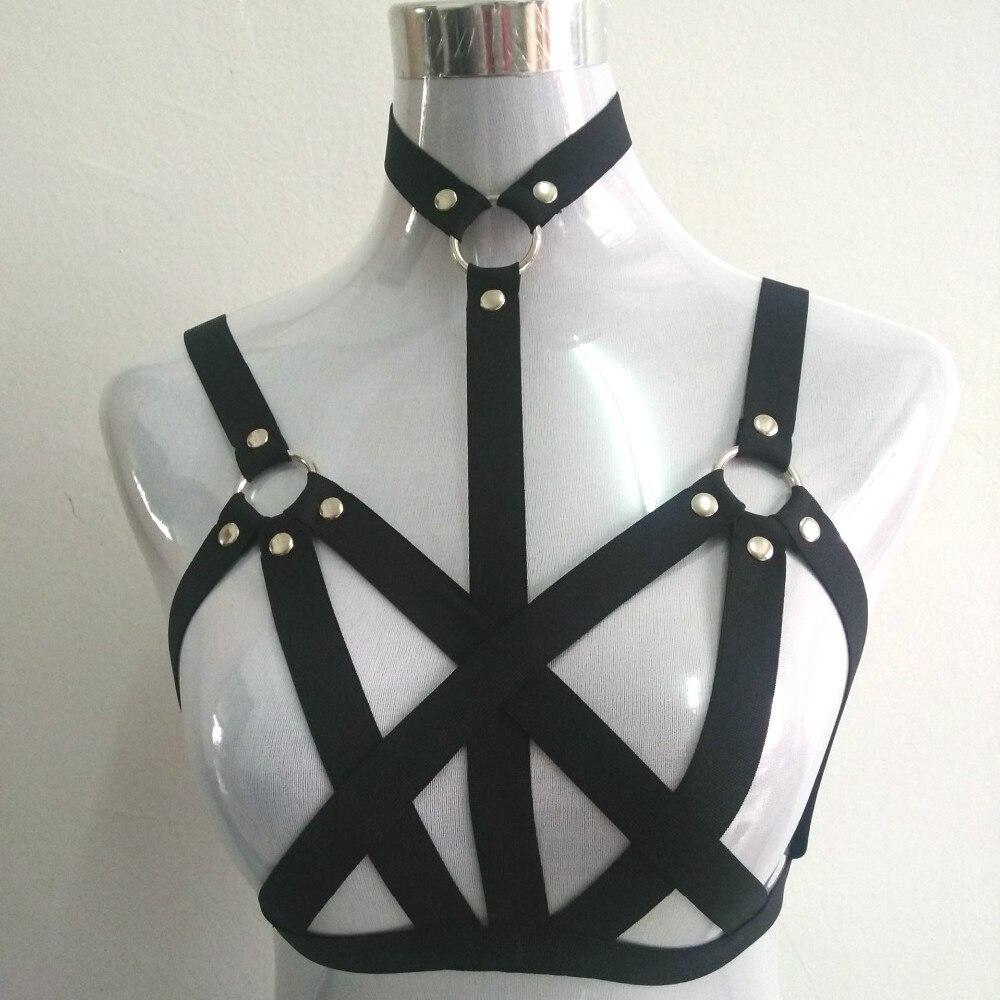 new fashion pastel goth O ring studded garter font b belt b font gothic bust bondage