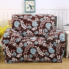 Braun universal stretch sofa abdeckung für 4 jahreszeiten, drei vier sitz elastische sofa abdeckung für wohnzimmer, blau fowers