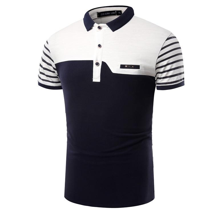 markyi 2017 patchwork mens polo shirts brands designer