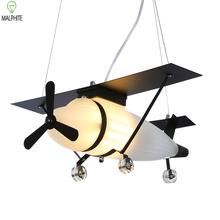 Retro Industrial Wind lighting personality Cafe Clothing shop children's Room restaurant bar aircraft decorative pendant lamp