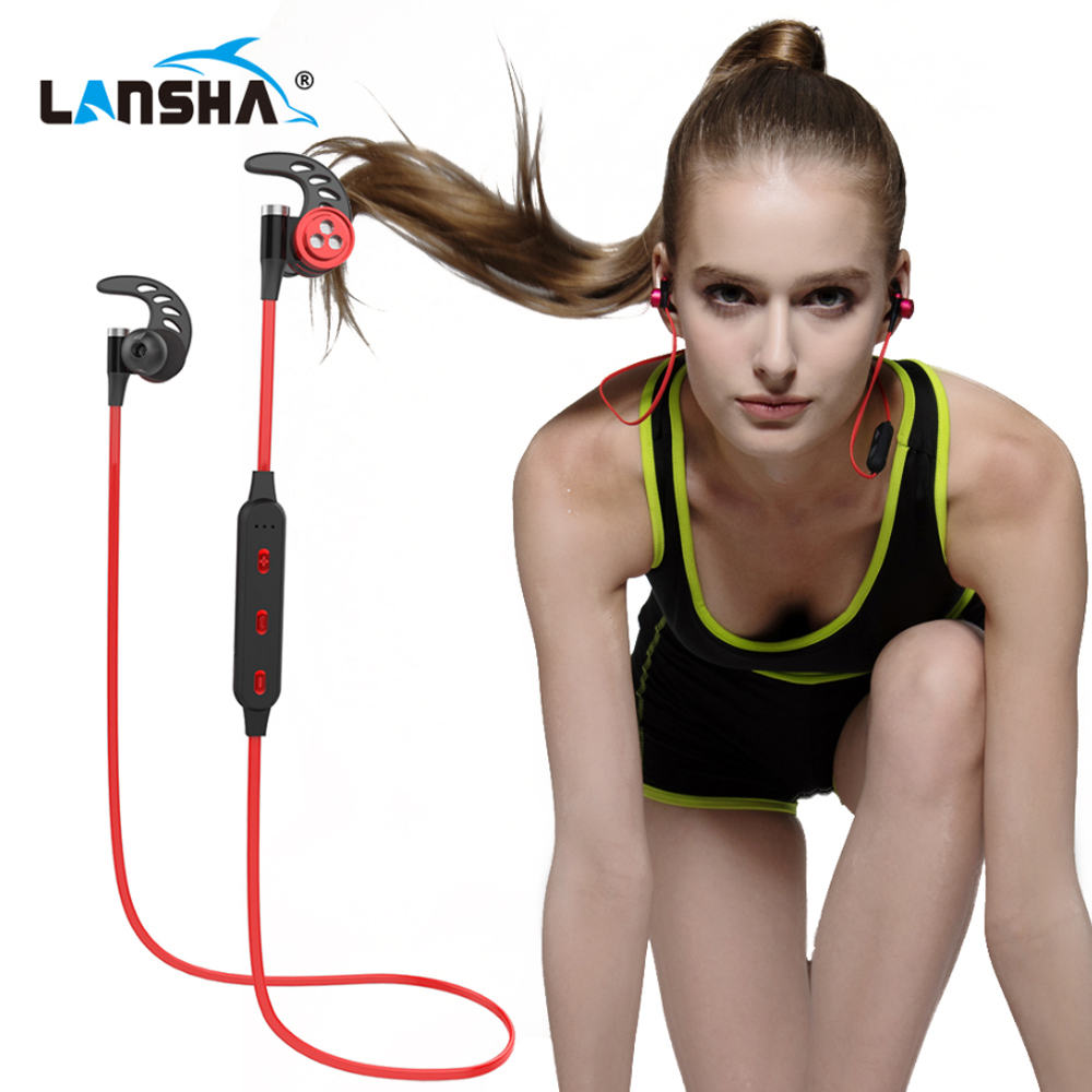 Wireless Headphones Bluetooth Headset Sport Running Magnetic Stereo Neckband Earphone With Mic CSR 4.1 For Phone Iphone Samsung sport wireless headphones for philips phone bluetooth headset gym for philips mobile phone running earphone free shipping