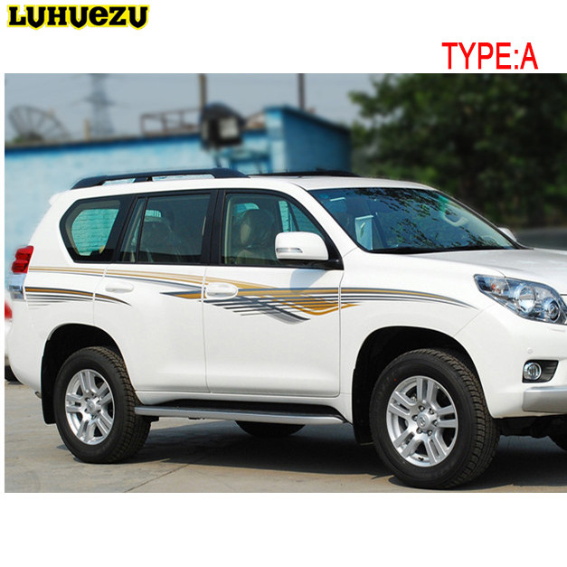 3M Car Body Sticker OEM Sticker For Toyota Land Cruiser Prado FJ 150 Accessories  2010 2011 2012 2013 2014 2015 2016 2017 оптика к фотоопарату зенит с зумом 200