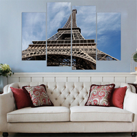 Unframed Eiffel Tower Canvas Art Print And Poster Home Decor HD Wall Painting For Living Room