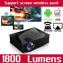 BT460 Móvil Elegante WIFI LCD de Vídeo de Cine En Casa HDMI USB piCO Portable Mini 1080 p HD LED Proyector Para El Iphone Android