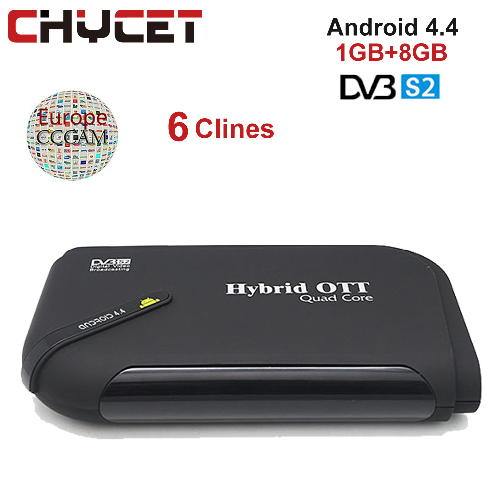 цена на Chycet Mini DVB S2+ Ordinary cccam Free IPTV Satellite TV Receiver Support Wifi Bluetooth 4.0 1080P HD DVB-S2 Set top Box