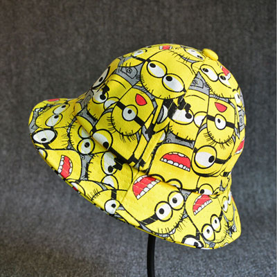 Minions Bucket Hat Boy Kids Summer Hat