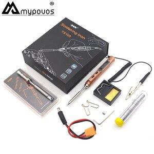 Набор паяльников TS100 65 Вт, программируемый Электрический мини-паяльник USB, быстрый нагрев, цифровой дисплей OLCD и 2 шт./наконечник