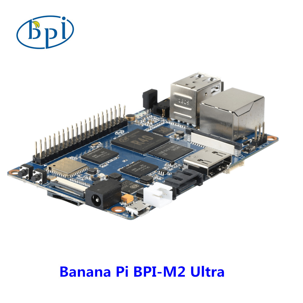 Quad Core R40 Allwinner chip Banana Pi M2 Ultra Development board with WIFI&BT4.0,EMMC Flash memory on board недорого