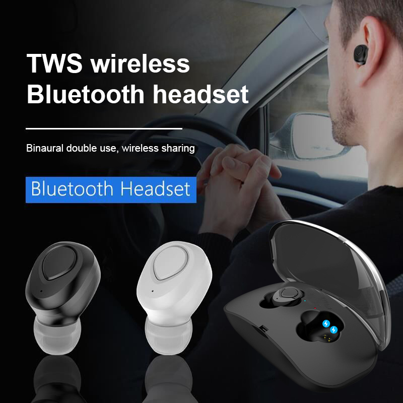 TWS Bluetooth Wireless Earphone with Mic Earbuds Headphones for Smartphones EM88