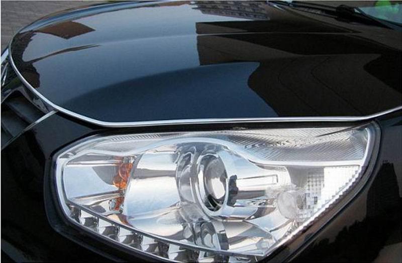 Ny U Style Durable 5 meter Silver Car Chrome Styling Dekoration - Bil interiör tillbehör - Foto 3