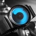 Ochstin nuevo concepto creativo unisex relojes de pulsera correa de malla de los hombres de lujo mens de la marca de moda de ginebra de cuarzo reloj de los hombres regalos