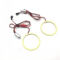 EEMRKE Fog Lamp Accessories Red Ice Blue White Yellow Purple Blue Angel Eyes DRL Daytime Running