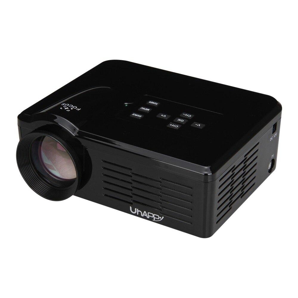 Uhappy Multimedia Mini LED Projector Home Theatre Cinema 800 Lumen 640*480 USB/SD/VGA/HDMI/AV/Micro USB/ATV 500:1 Mini Proyector