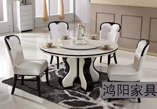 Ikea blanc marbre table manger table ronde plateau - Table ronde de jardin ikea ...