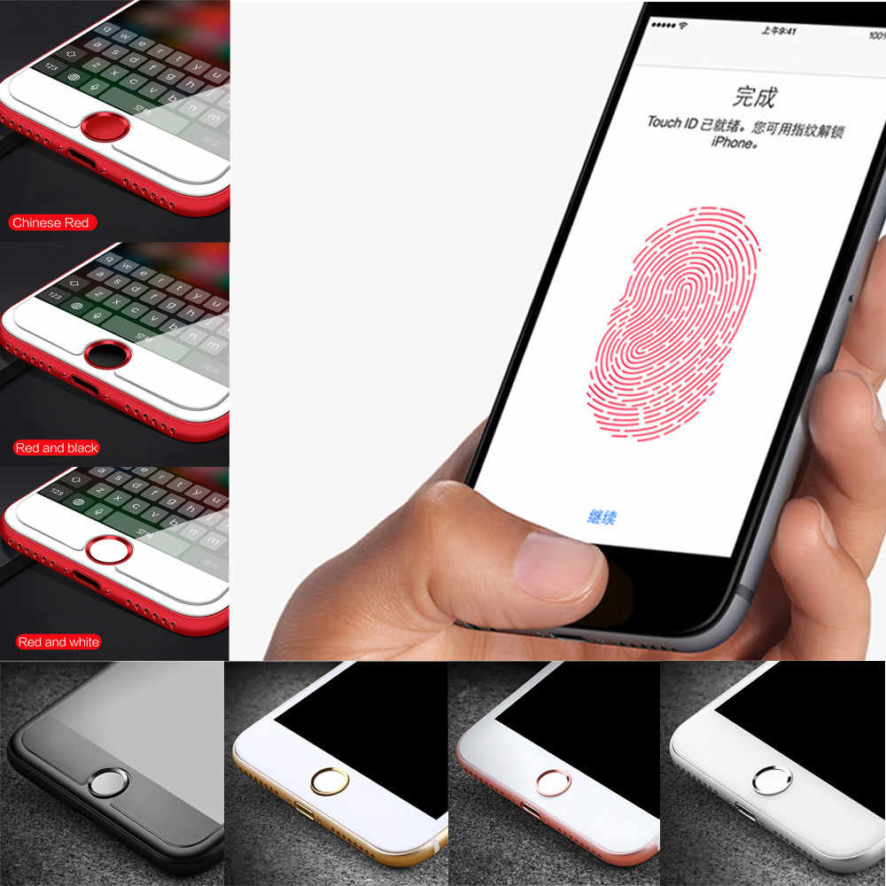 Autoadesivo domestico del Tasto-Touch ID Supporto del Pulsante di Impronte Digitali Sistema di Indentification Touch ID per il iphone 7/5 S 5