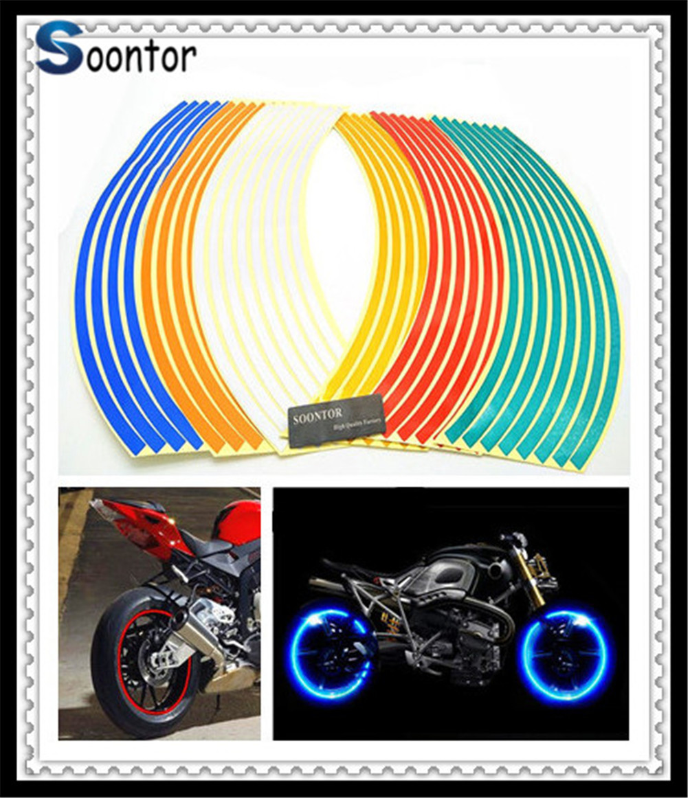 Strip Motorcycle Wheel <font><b>Sticker</b></font> Decal Rim Tape for YAMAHA 700 ABS XSR 900 ABS 1200 KTM <font><b>Duke</b></font> 640 LC4 Supermoto image