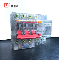 Group On Three Phase Four Wire Circuit Breakers Earth Leakage Protection Switch DZ47LE 3P N Transparent