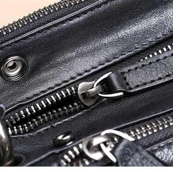 AETOO Leather handbag men\'s soft leather diagonal bag casual men\'s first layer leather shoulder briefcase