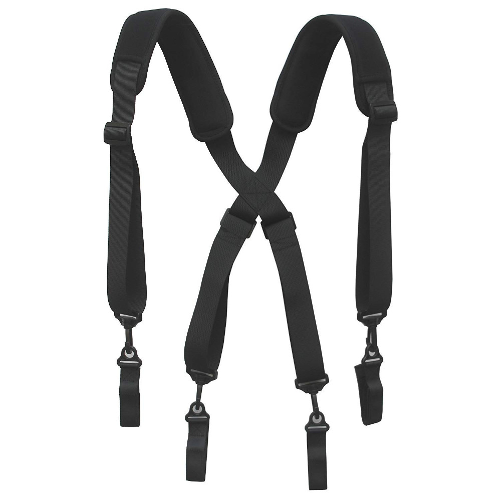 Neoprene Padded Tool Belt Suspender Duty Belt Suspender W 4 Loop Attachments