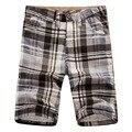 Summer 2016 Fashion soprt bermuda masculine men's boardshorts wholesale cargo shorts cotton casual plaid Shorts men board shorts