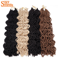 Silky Strands 24 24strands 100g Crochet Goddess Locs Hair Extensions Janet Collection Wavy Faux Locs Crochet