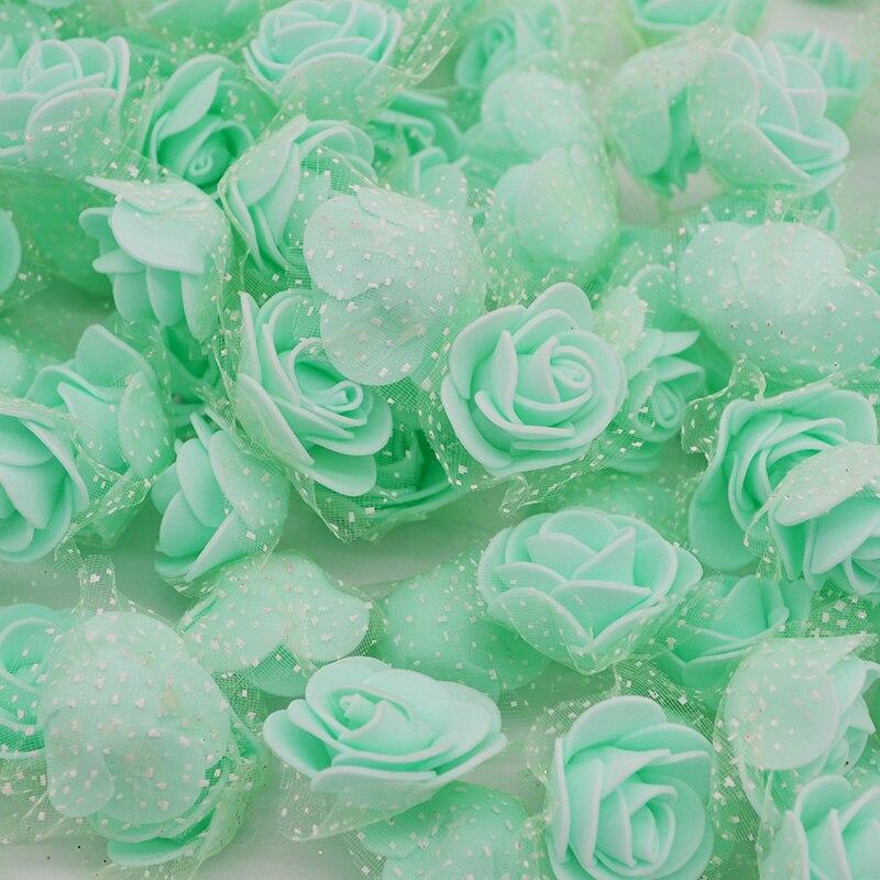 50 шт. 3 см искусственного шелка пены цветы розы Глава DIY Craft Скрапбукинг поддельные венок декоративные свадебные вечерние 7z