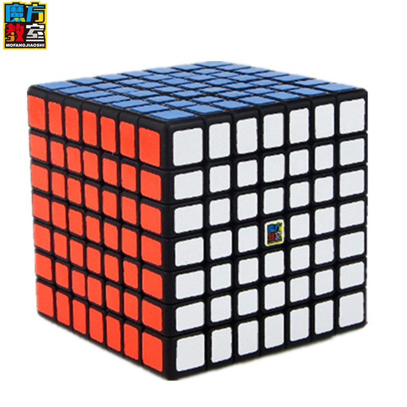 Moyu Meilong 7x7x7 Magic Cube Classroom ML7 Magic Cube 7Layers Cube Seven Layer Black Cube Puzzle Toys For Children Kids