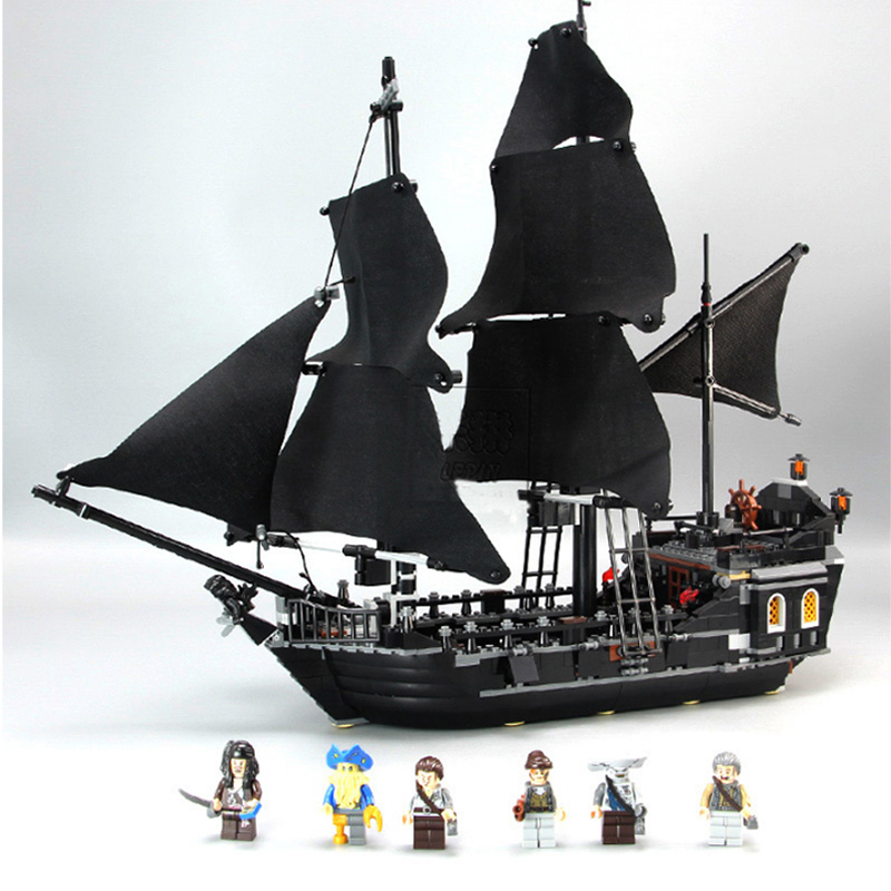 ESTELLE Pirates Of The Caribbean Black Pearl Ship Model Building Kits Blocks Compatible Legorreta DIY Bricks