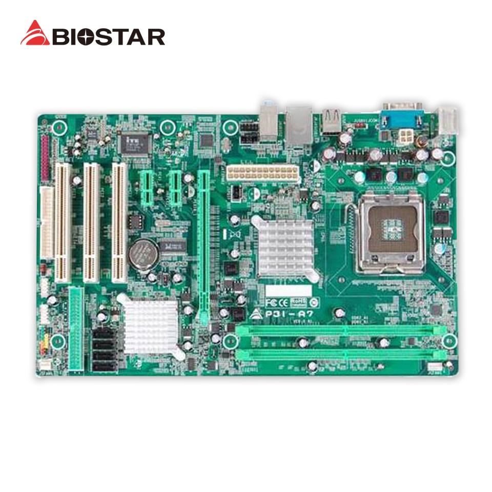 все цены на BIOSTAR P31-A7 Desktop Motherboard P31 LGA 775 DDR2 4G SATA2 USB2.0 ATX онлайн