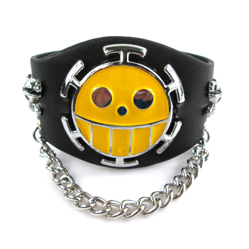 Bsarai Final Fantasy Black Butler One piece Naruto Sharingan Attack on Titan Vampire Knight Bleach Punk Bracelet Wristband in Bangles from Jewelry Accessories