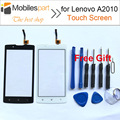 Para lenovo a2010 pantalla táctil de reemplazo del panel digitalizador pantalla táctil original del 100% para lenovo a2010 smartphone