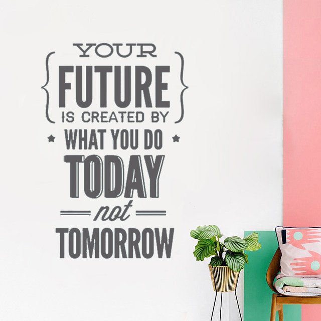 office wall stickers. T07061 Kids Room Decoration Stickers Inspirational Quotes Wall Office Decor Home Work Hard To Gain More