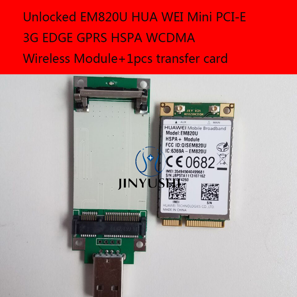 pcie To Usb Adapter Hua Wei Mini Pci-e 3g New&original Edge Gprs Hspa Wcdma Module In The Stock Famous For Selected Materials Unlocked Em820u Delightful Colors And Exquisite Workmanship Novel Designs