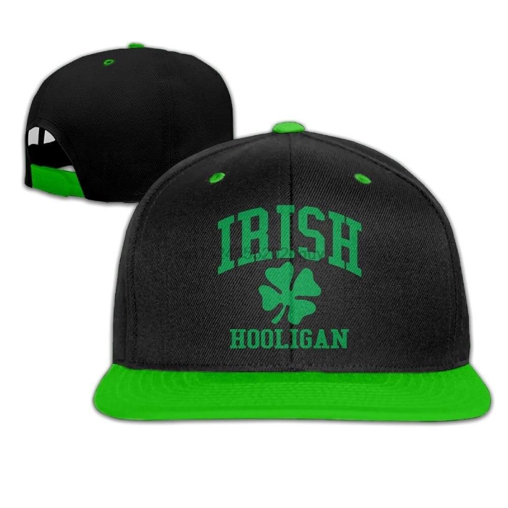 Mens Flat Baseball Cap Original Irish Hooligan Snapback Hats