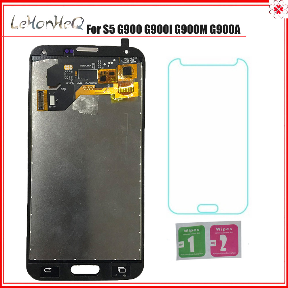TEST LCD For Samsung Galaxy S5 G900 <font><b>G900F</b></font> Display Touch Screen Digitizer Assembly For Samsung S5 G900 TFT Replacement Parts image