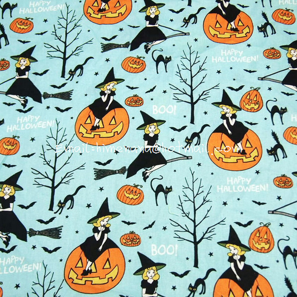 Halloween Fabric Halloween Party Decor Skull Witch Spider
