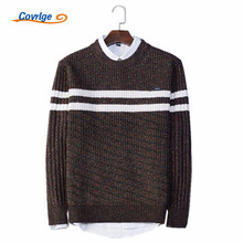 Covrlge 2017 Men's Sweaters O-Neck Pullover Male Striped Autumn Winter Fashion Sweater Free Shipping Mens Clothing M-3XL MZM012
