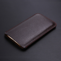 For Vernee Thor E 4G LTE 5 0 Microfiber Leather Sleeve Litchi Pattern Pouch Phone Bag