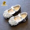 2017 nueva primavera girls princesa shoes moda con lentejuelas con cuentas kids shoes niños lindos partido único shoes toddler shoes tamaño 21-36