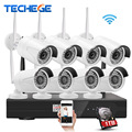 Techege Plug And Play 8CH Wireless NVR Kit P2P 960P HD Outdoor IR Night Vision Security IP Camera 1.3MP WIFI CCTV System